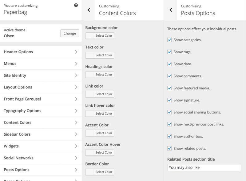 Paperbag WordPress Customizer Theme