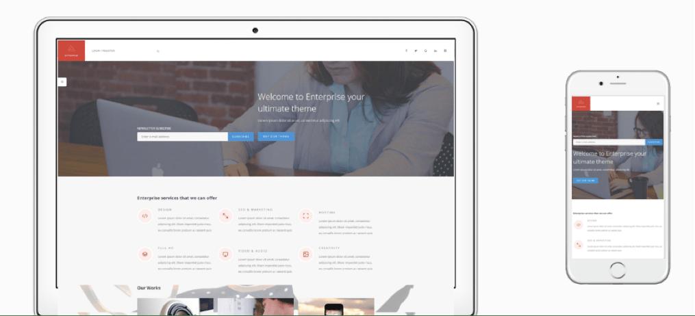 Enterprise WordPress Business Theme
