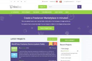 HireBee WordPress Theme for Freelance Job Marketplace Sites