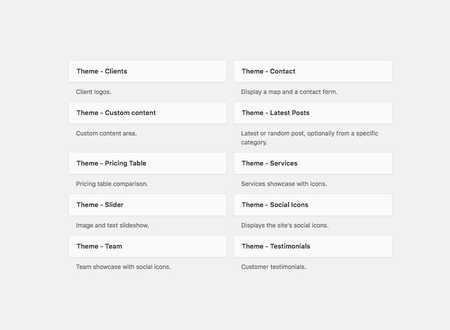 Potenza Theme - 9 Custom Widgets