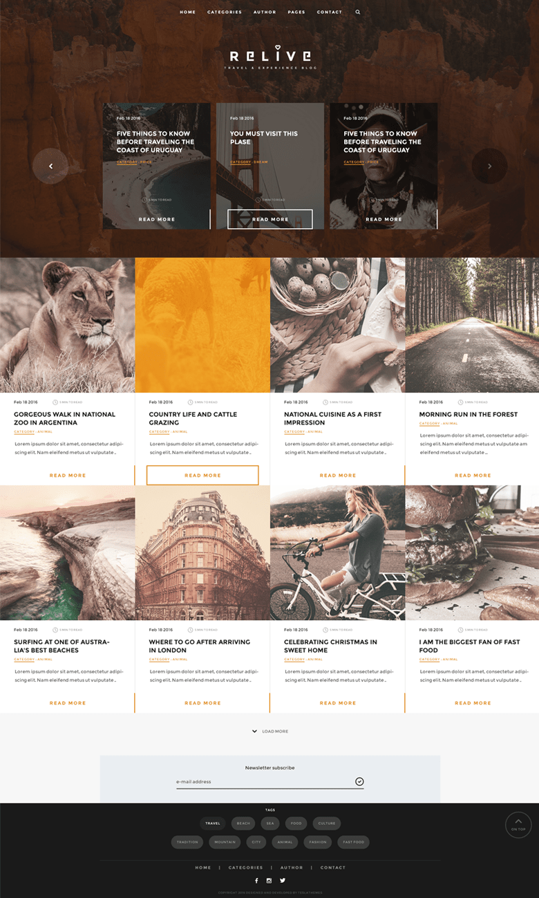 Relive WordPress Storytelling Theme