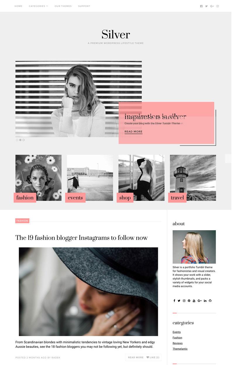 Silver WordPress Fashion Designer Theme