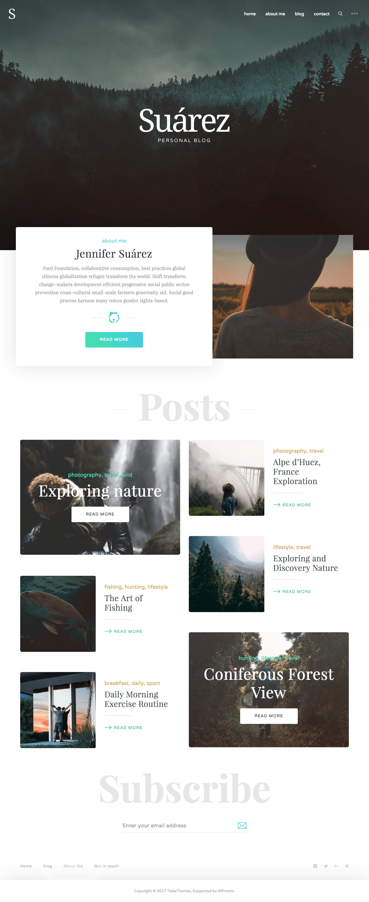 Suarez WordPress Blog Theme