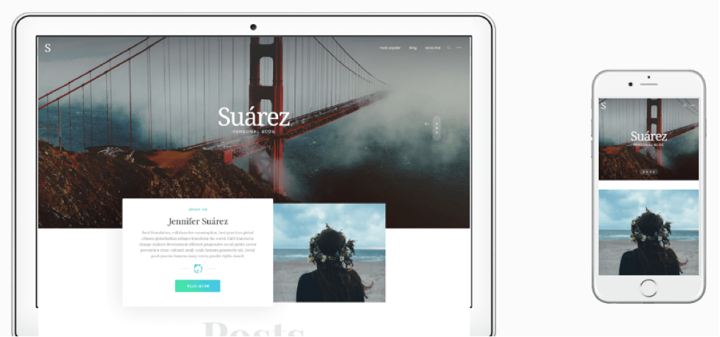 Suarez WordPress Creative Bloggers Theme