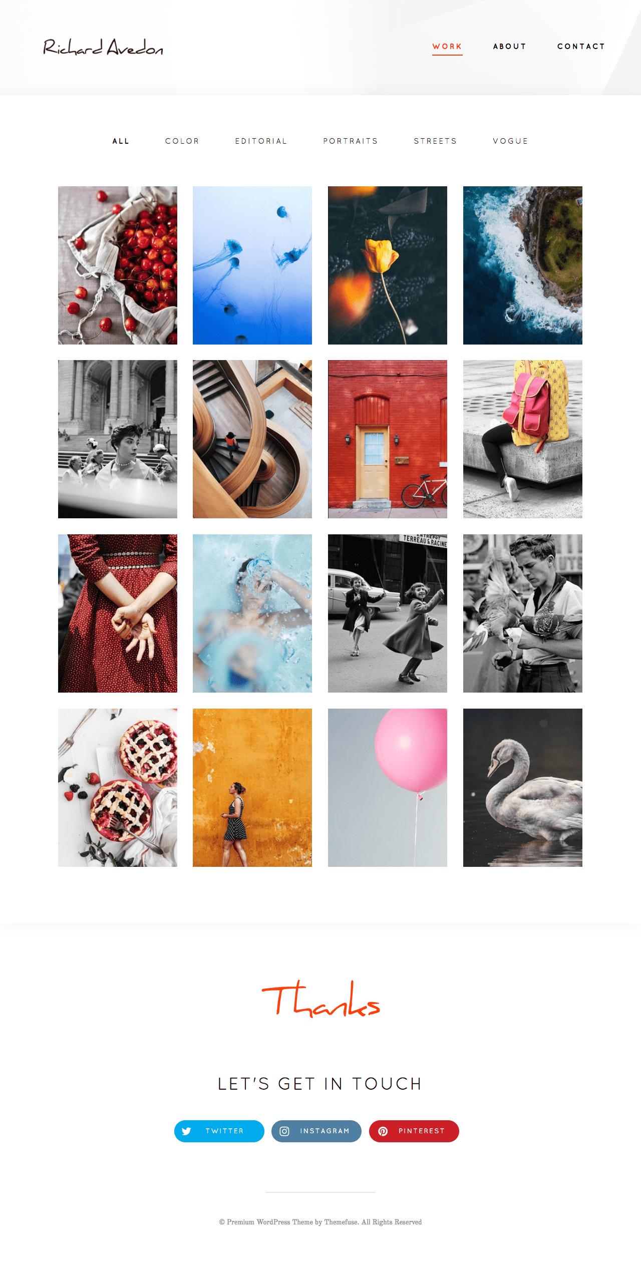 Shutter Photo Gallery WordPress Theme