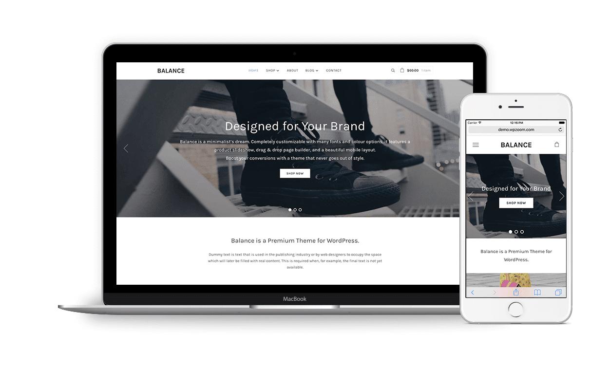 Balance WordPress Minimalist Business & e-Commerce Theme