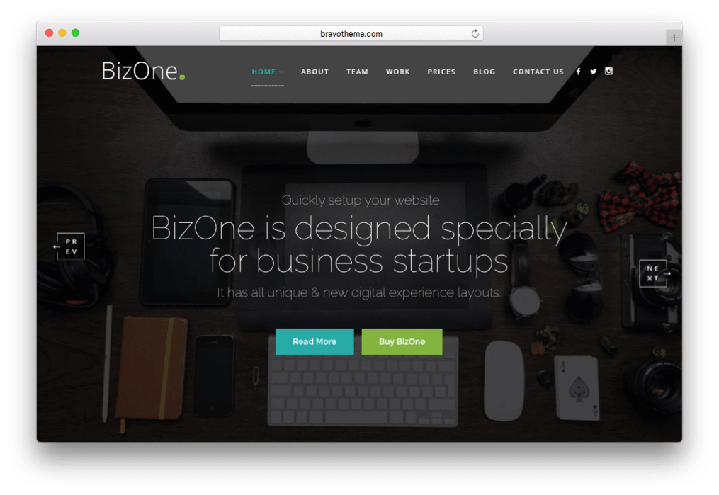 BizOne OnePage Parallax WordPress Theme