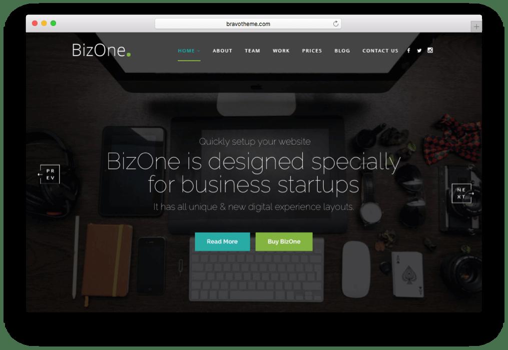 BizOne OnePage Parallax WordPress Theme
