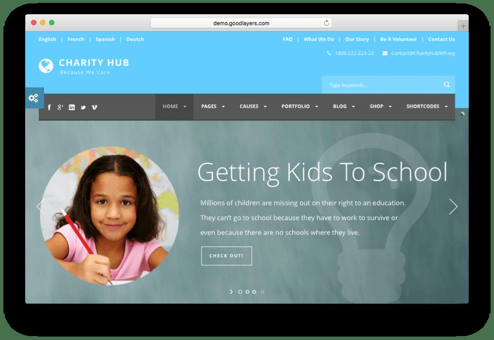 Charity Hub WordPress NGO Theme
