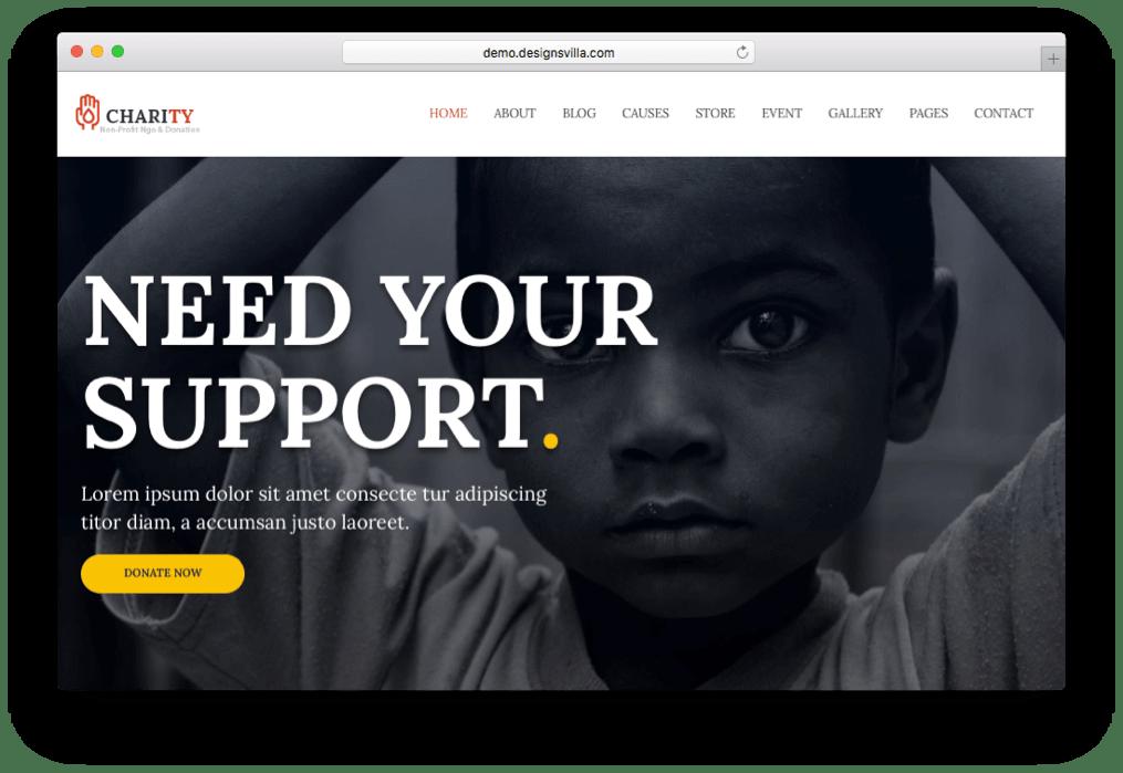 Charity Non-profit WordPress Theme