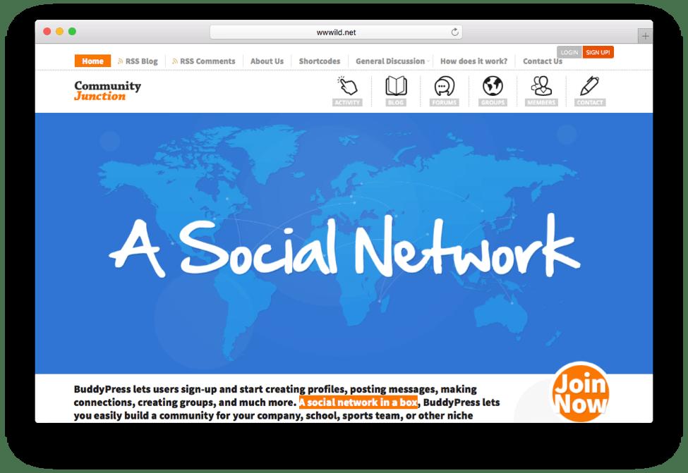 CommunityJunction WordPress Community Theme