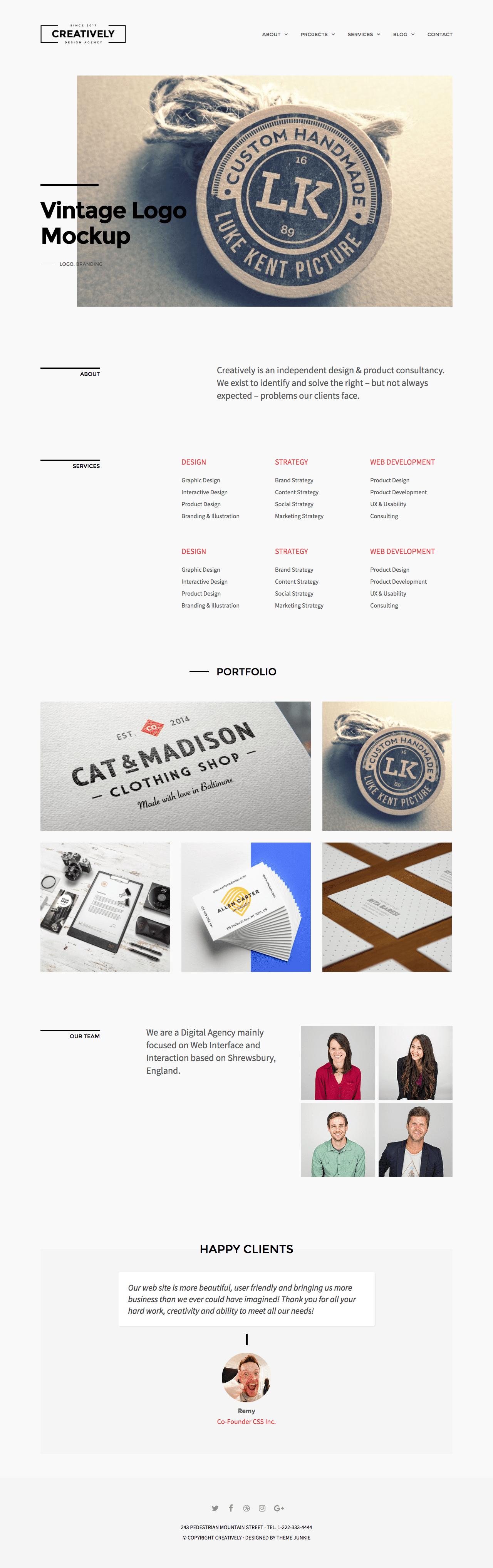 Creatively WordPress Minimal Business Theme