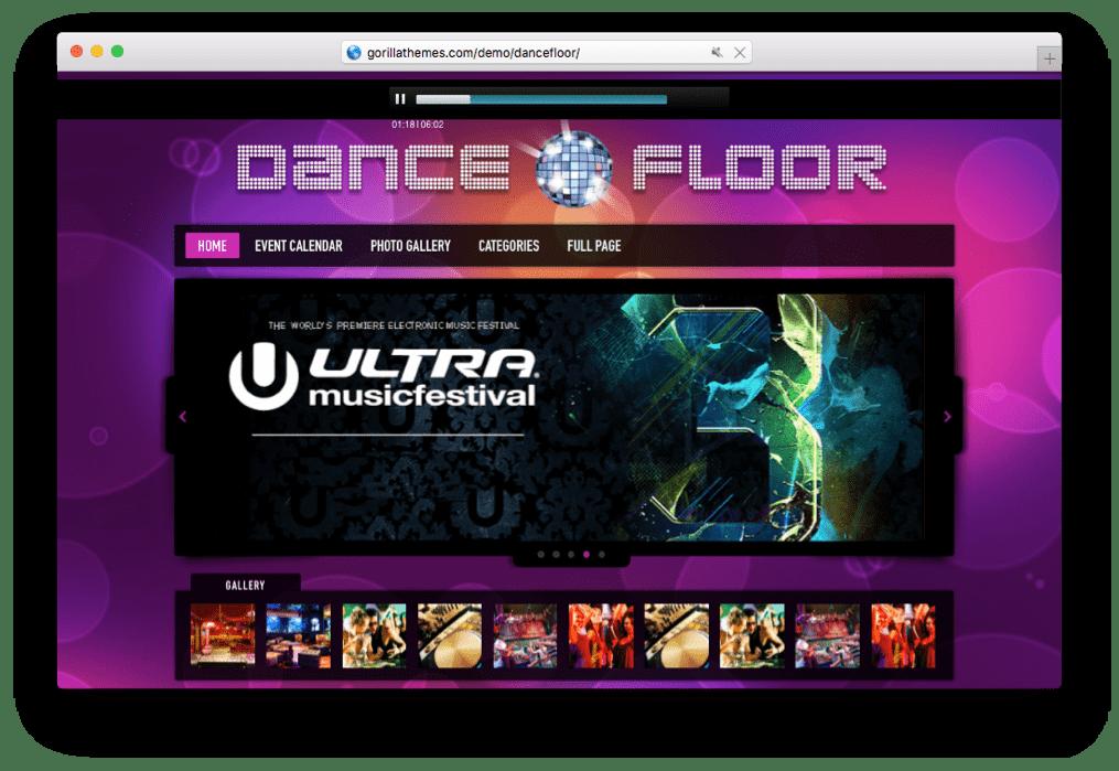 Dance Floor DJ WordPress Theme