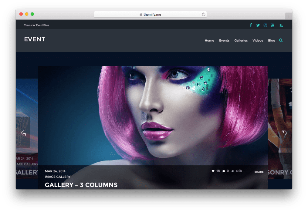 Event WordPress Music Theme by Themify