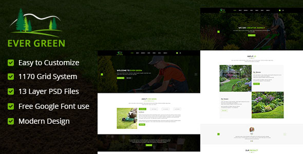 Ever Green PSD Template