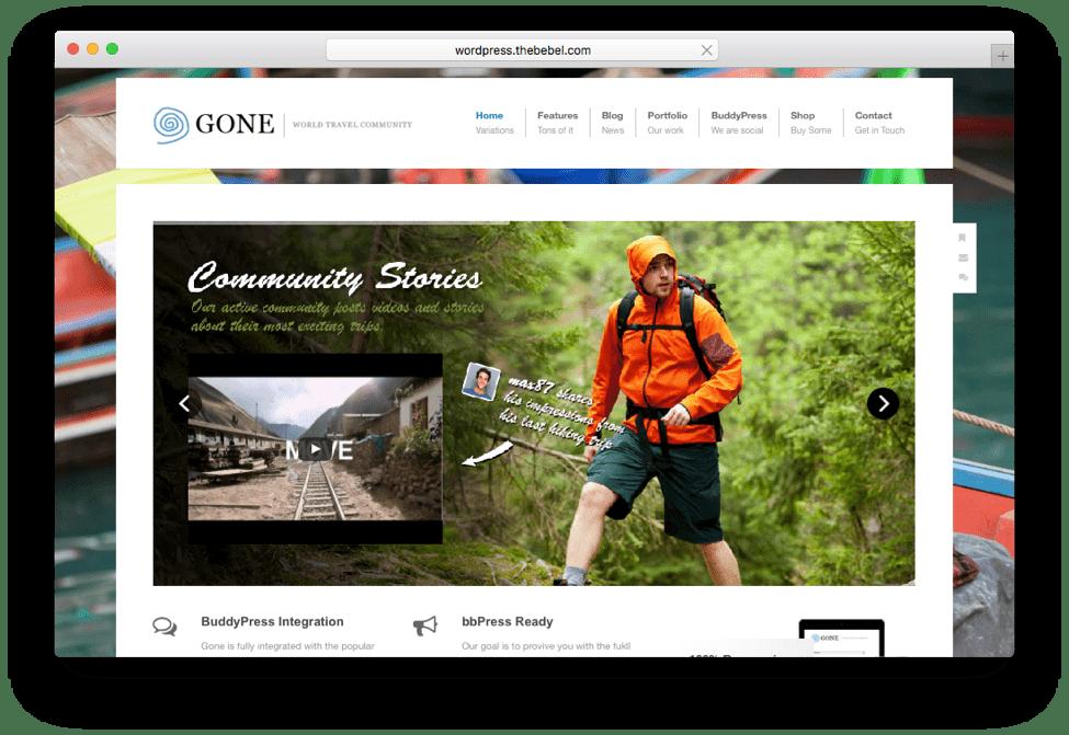 Gone WordPress Social Community Theme