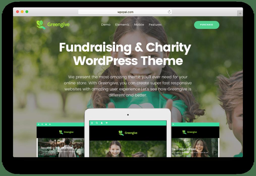 Greengive Fundraising & Charity WordPress Theme