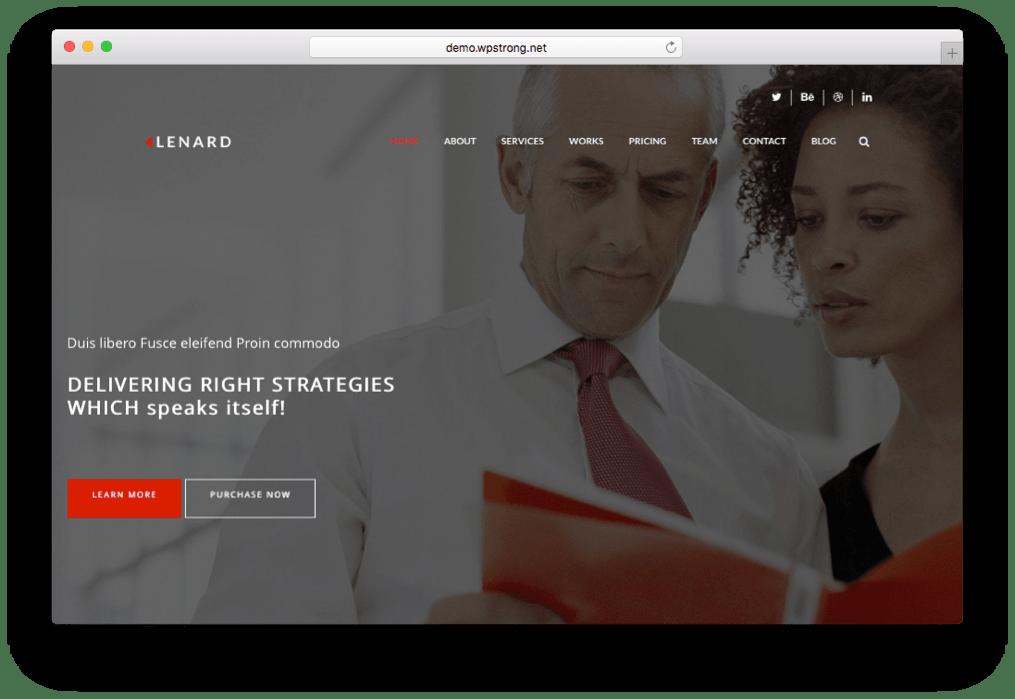 Lenard Onepage Business WordPress Theme