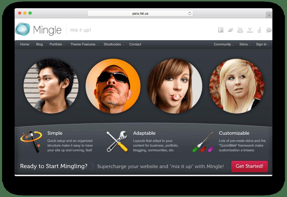 Mingle Multi-purpose WordPress Theme