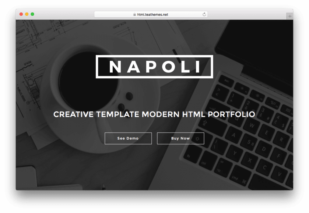 Napoli One Page Parallax WordPress Theme