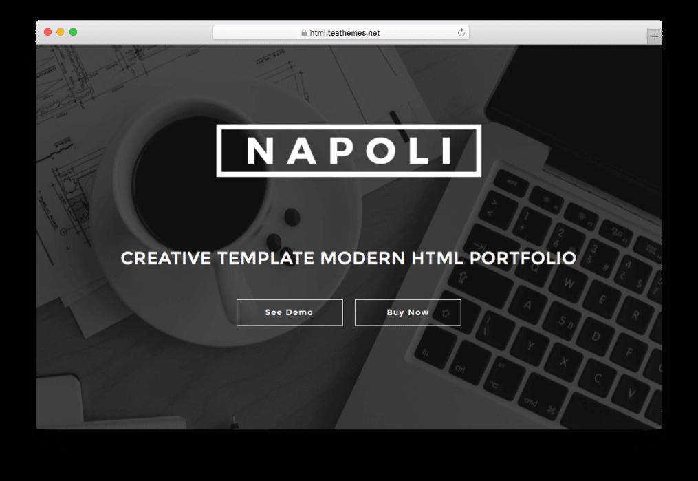 Napoli One Page Parallax WordPress Theme
