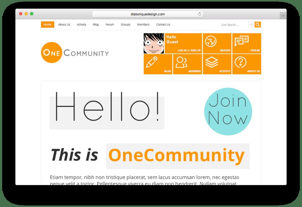 OneCommunity WordPress BuddyPress Theme
