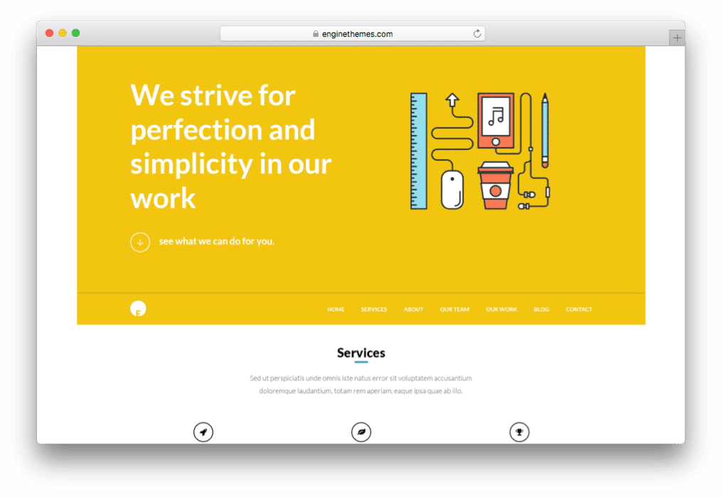 OneEngine Multipurpose One Page WordPress Theme