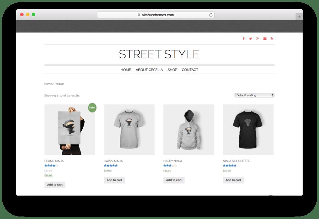 Street Style One Page WordPress Fashion Store Theme