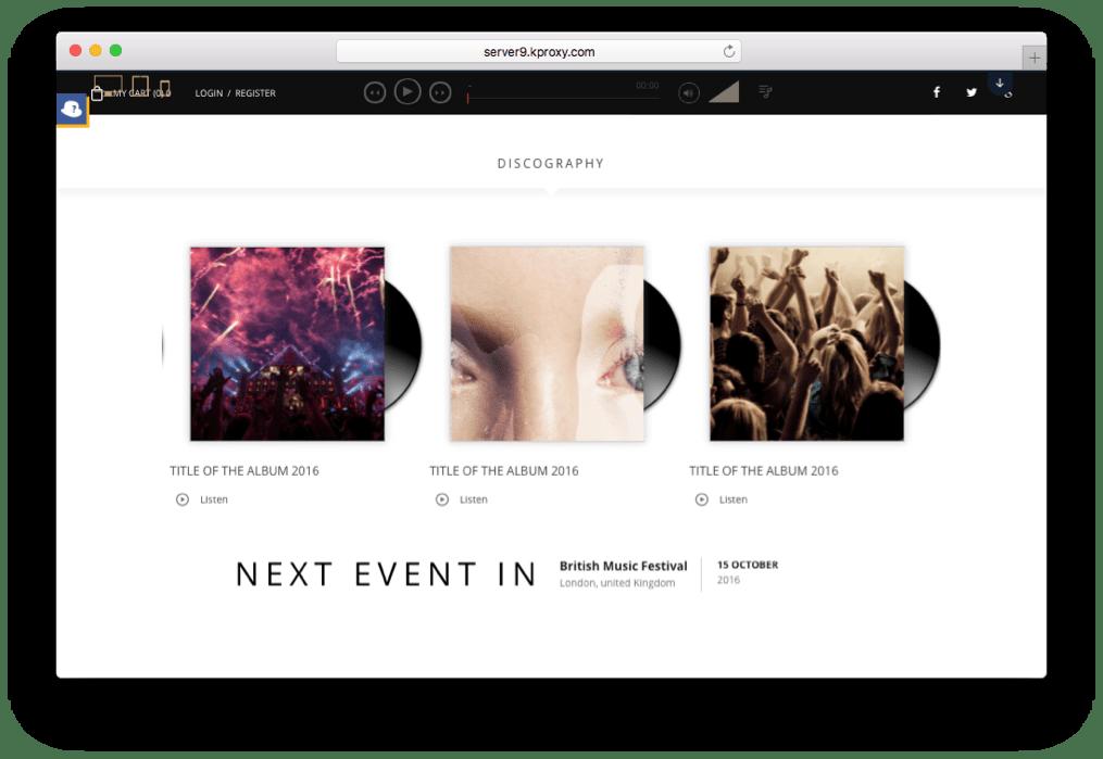 Superstar WordPress Music Band Theme