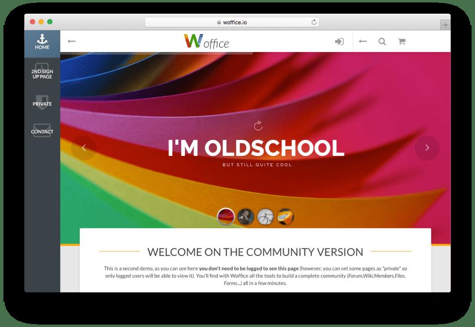 Woffice Intranet Extranet WordPress Theme