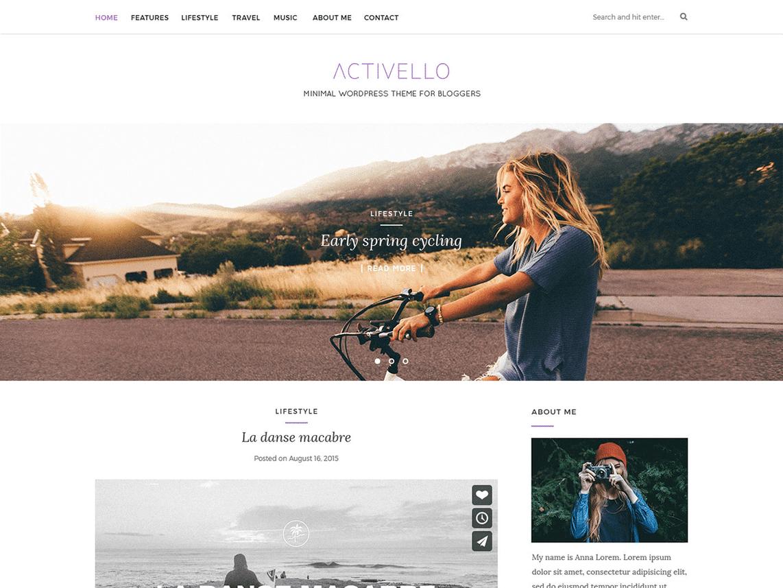 Activello Free WordPress Minimal Blog Theme