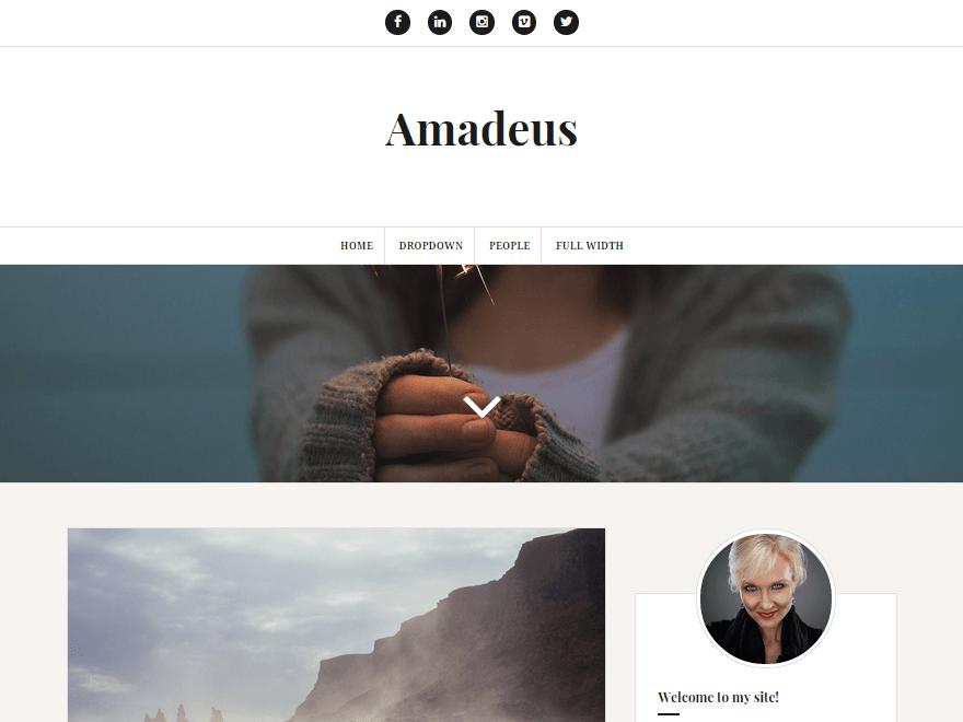 Amadeus Free Responsive Blog Theme