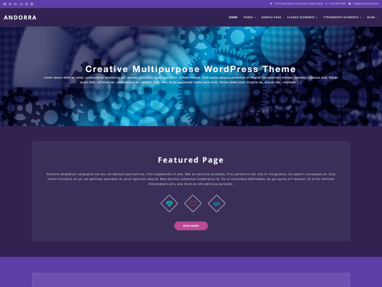 Andorra WordPress Creative Blog Theme