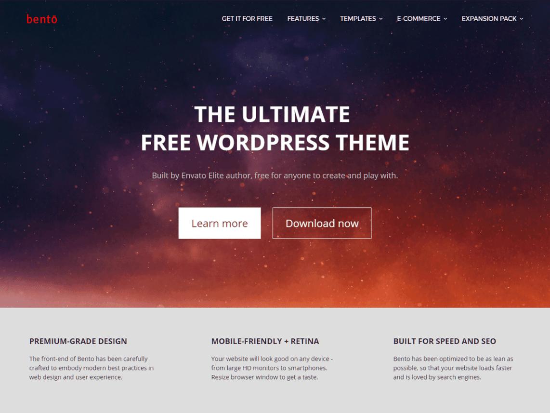 Bento Free Premium WordPress Blog Theme