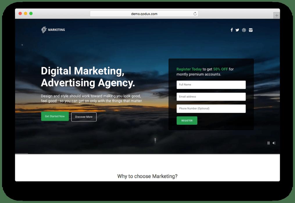 Marketing Digital Agency Theme for WordPress