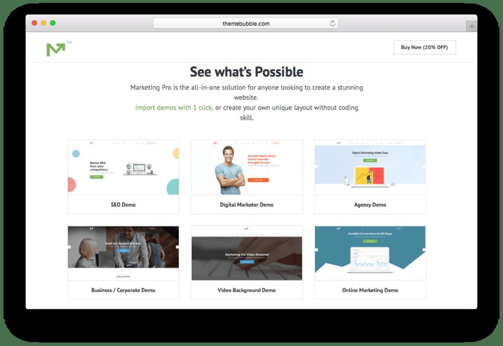 Marketing Pro SEO Landing Page & Marketing Theme for WordPress