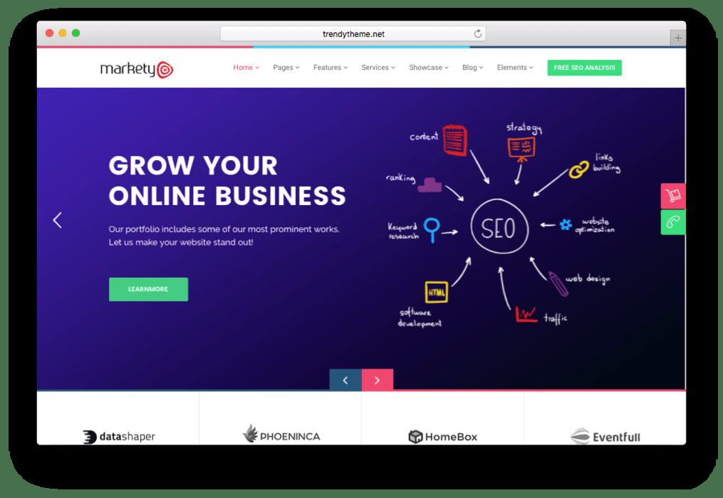 Markety SEO Agency Theme for WordPress