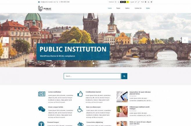 Public Institutions WordPress Theme WCAG