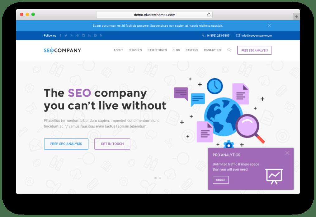 SEO Company & Marketing Theme for WordPress