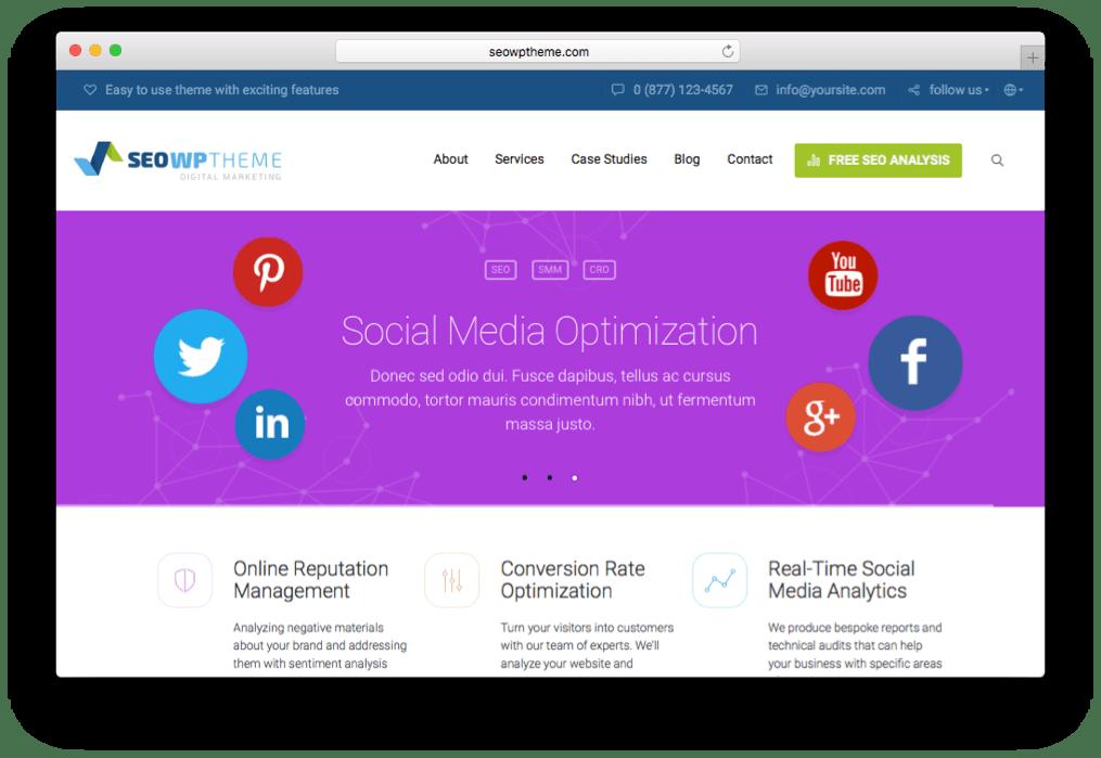 SEO WP Online Marketing Experts Theme for WordPress