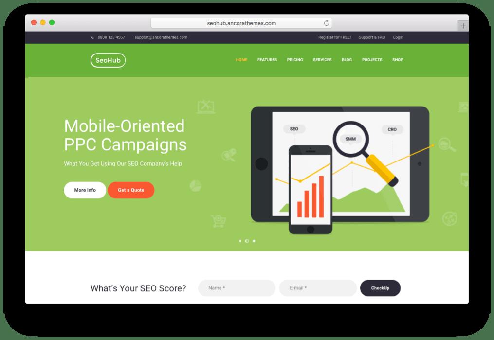 SEOHub SEO & Marketing Theme for WordPress