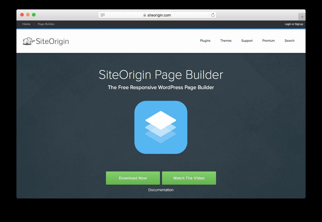 Site Origin Free Page Builder WordPress Plugin