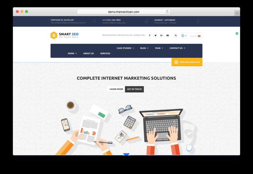 Smart SEO Modern Marketing Theme for WordPress