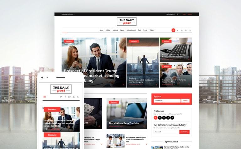The Daily Post Media & Latest News WordPress Theme