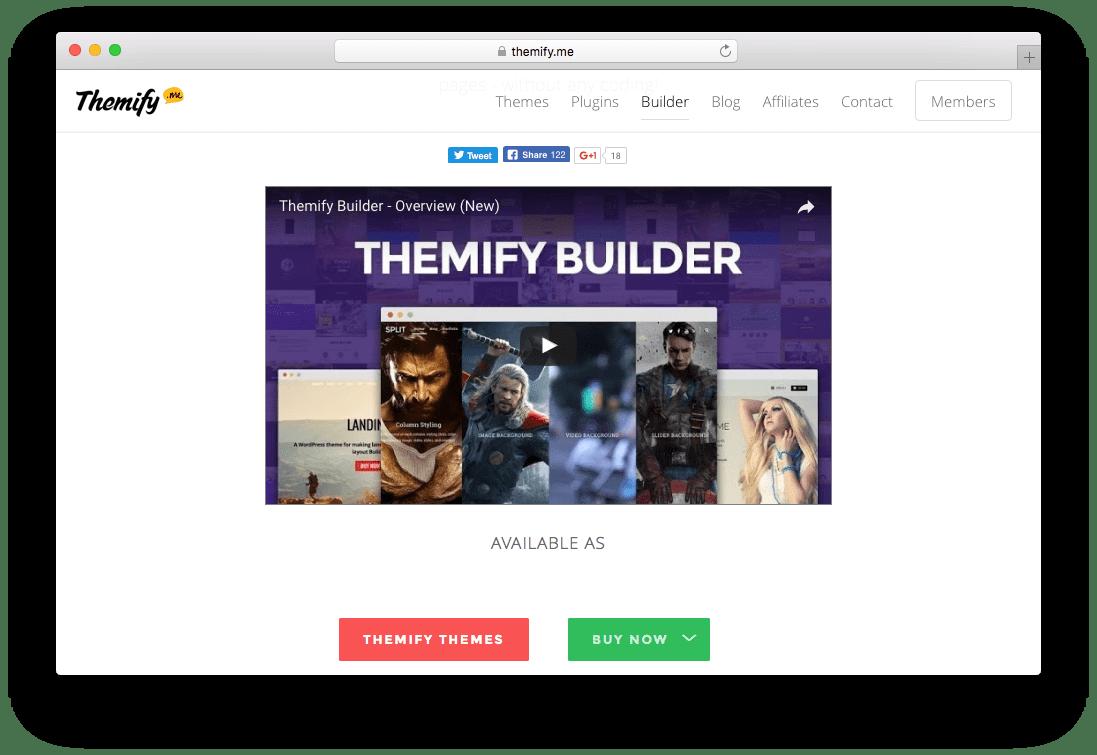 Themify Page Builder WordPress Plugin