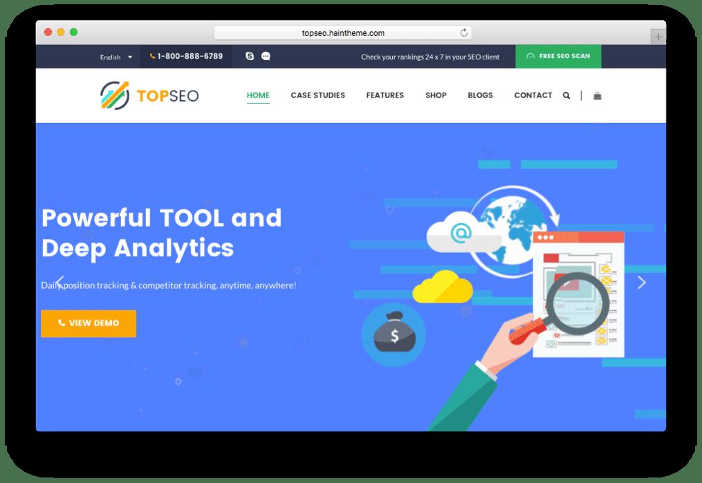 TopSEO SEO & SEM Agency Theme for WordPress