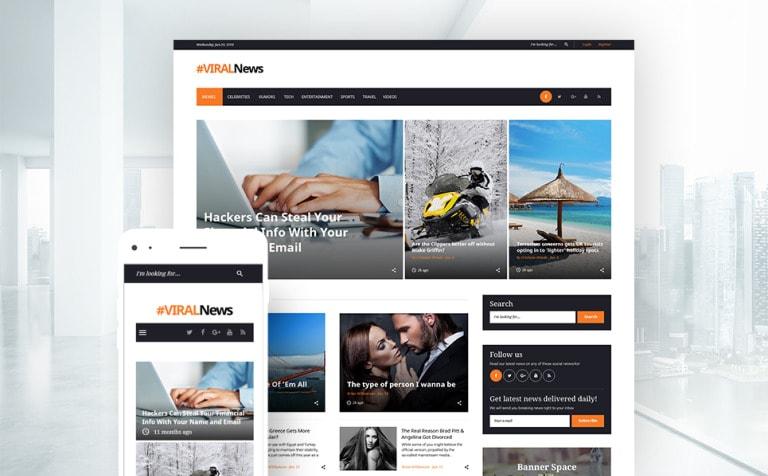 Viral News Portal & Magazine WordPress Theme