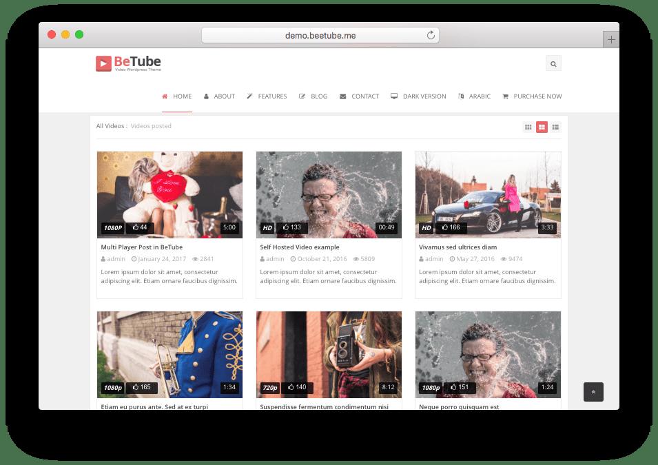 Betube WordPress Video Blog Theme