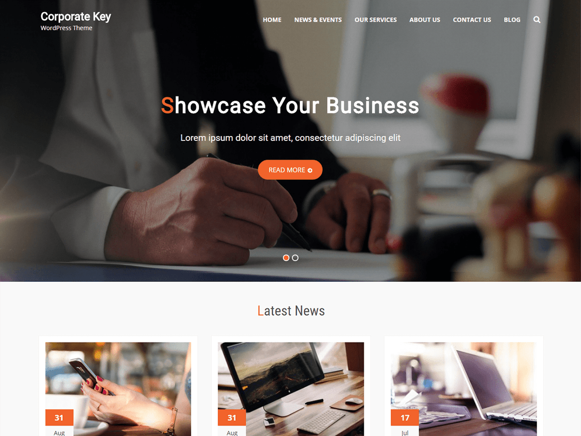 Corporate Key Free SEO Optimized WordPress Theme