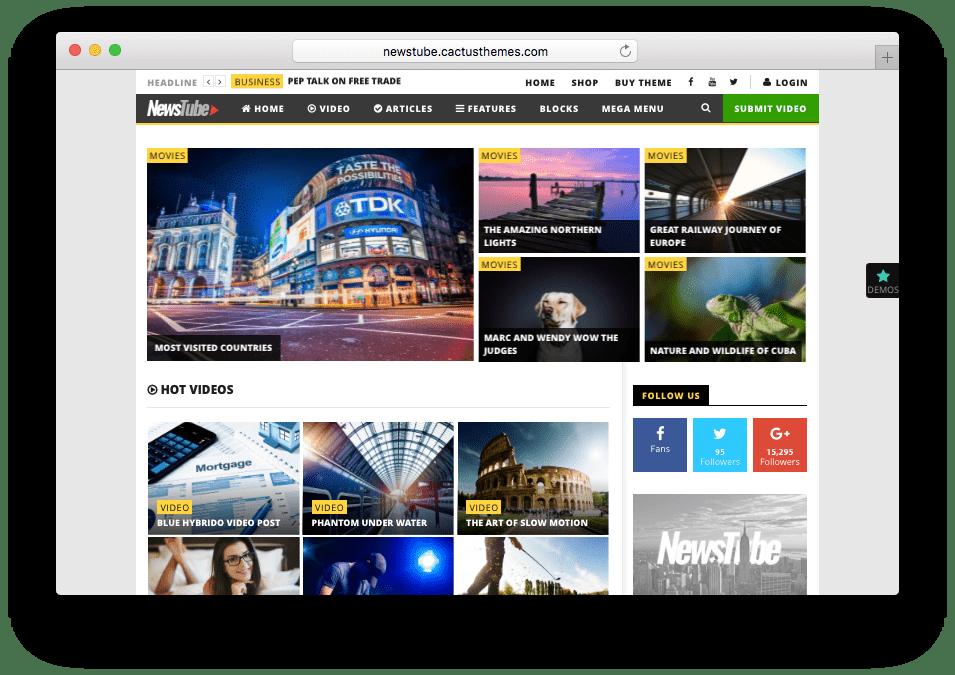 NewsTube WordPress Video Theme